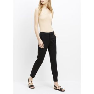 Vince Side Strapping Stretch Wool Trousers Black
